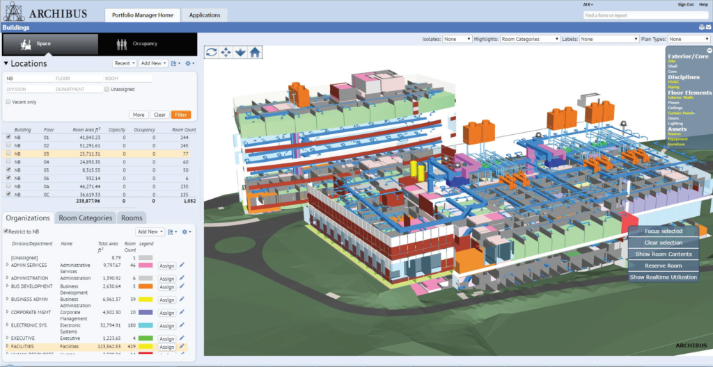 ARCHIBUS BIM Space Management