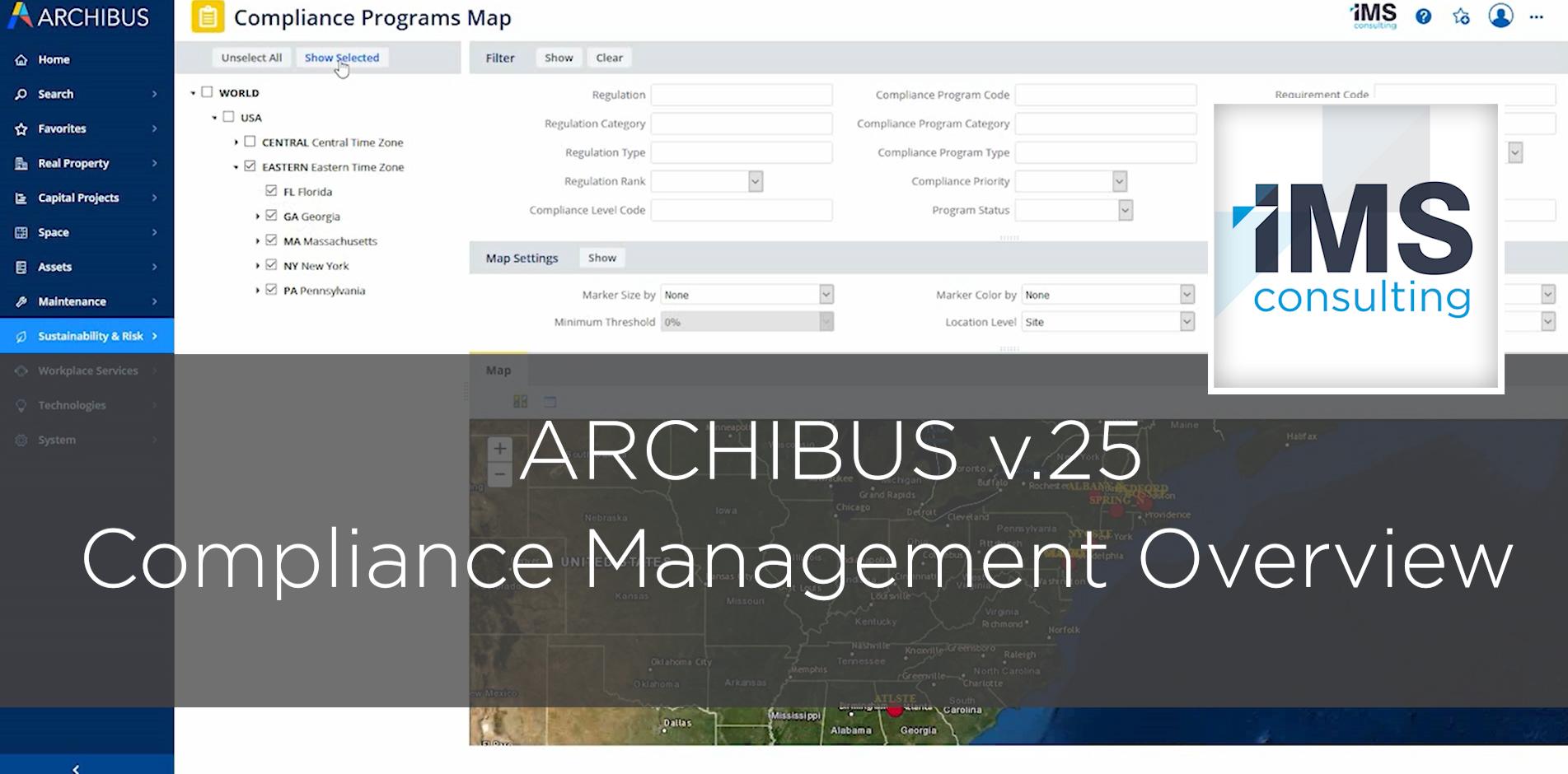 Archibus Compliance Management Application