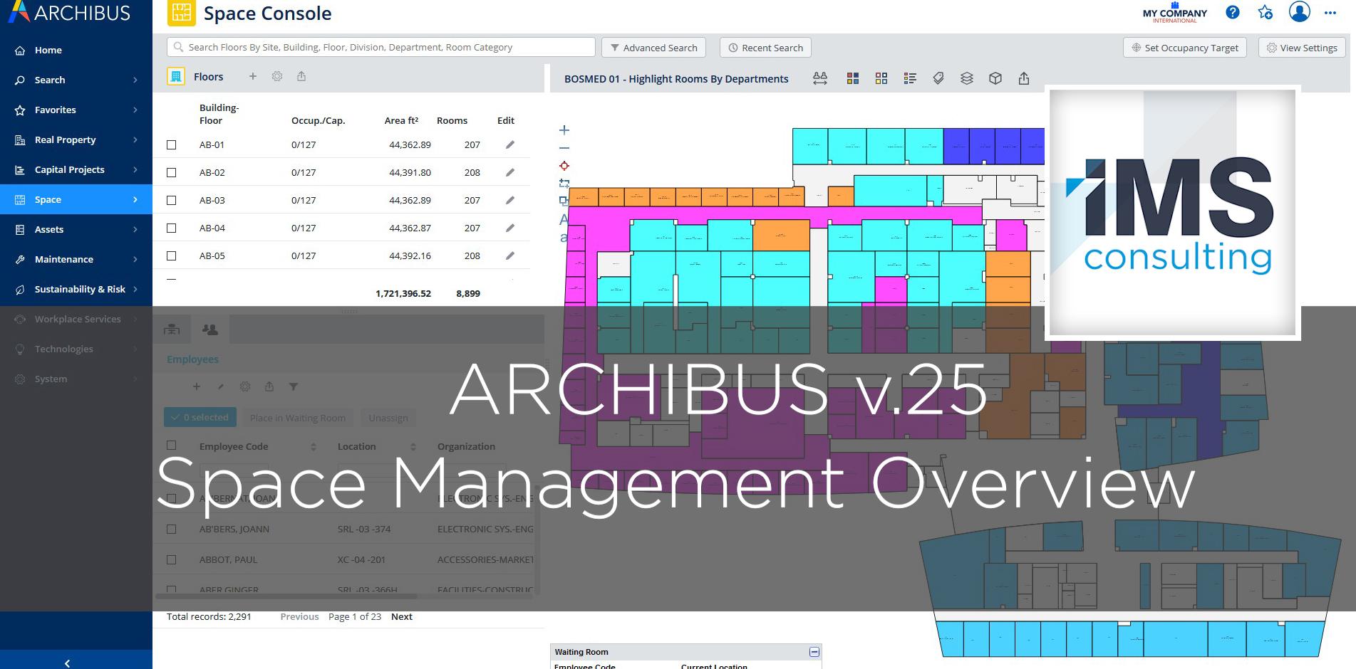 ARCHIBUS Space Management v.25