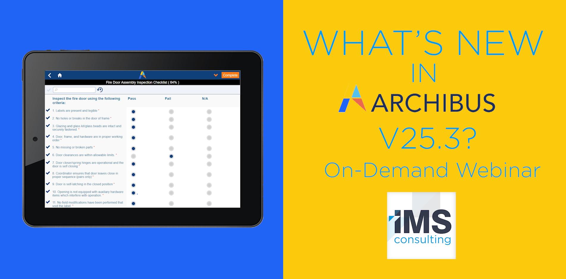 Archibus V.25.3 - IMS Consulting